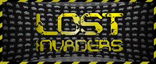 Web banner for music group, Lost Invaders