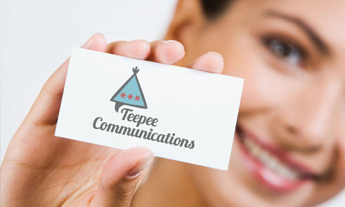 Logo design for Teepee Communications